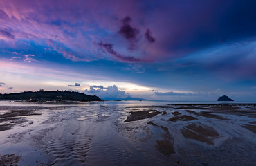 Halloween sunset on the beach