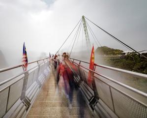Crowds on Skyway Bridge
