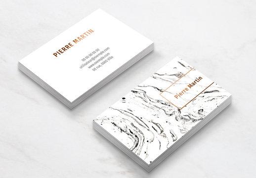 Modèle de carte de visite Marbre blanc