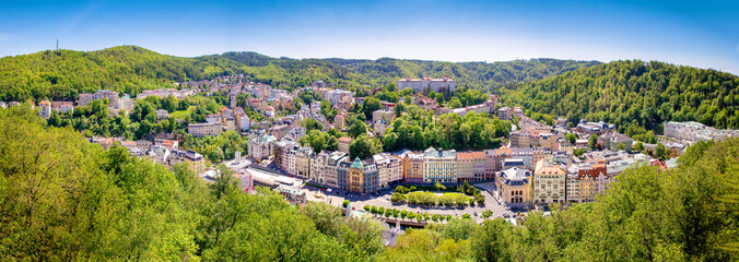 karlovy vary city panorama czech republic Wall mural