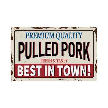 Genuine Southern Barbecue Menu Pulled Pork Template. Easy to edit vector file