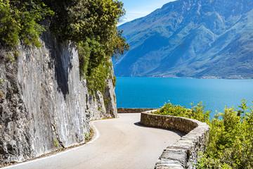 Wall Mural - Gardesana Road near Limone sul Garda. Garda Lake, Lombardy, Italy