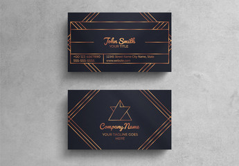 Vintage Luxury Business Card Layout