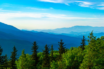 magestic overlook of the layered appalachian mountains