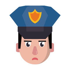 policeman face avatar cartoon character