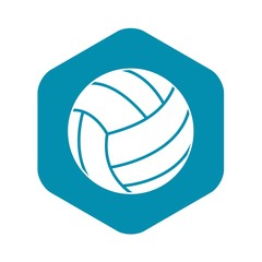 Black volleyball ball icon. Simple illustration of black volleyball ball vector icon for web