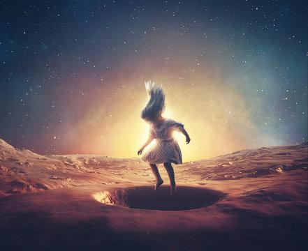 Little girl on mars