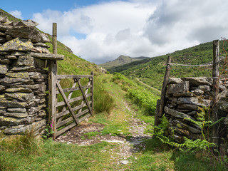 Open gate in the English Lake District