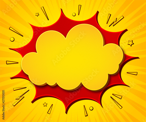 Comics background  Cartoon poster in pop art style with