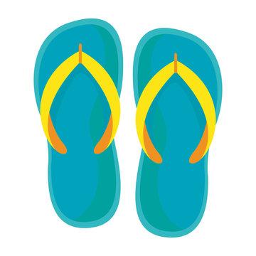 Isolated summer flip flops design