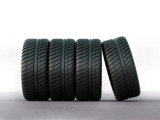 racing rain tires and 3d wheels