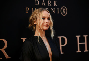 """Actor Jennifer Lawrence poses during the film premiere of """"Dark Phoenix"""" in Los Angeles"""