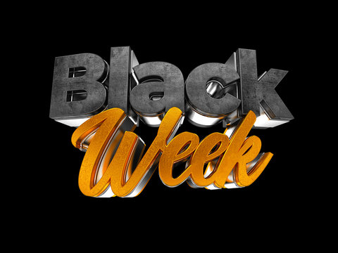 BLACK FRIDAY WEEK 3D LETTER RENDERING