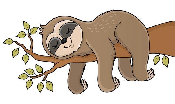 Sleeping sloth theme image 1