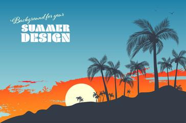 Background for your summer design