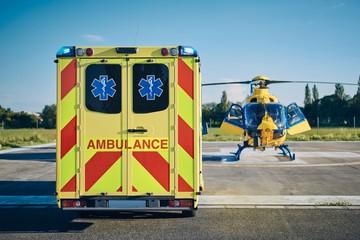 Garden Poster Helicopter Emergency Medical Service