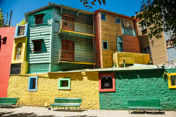 Keuken foto achterwand Buenos Aires Colorful houses at Caminito street in La Boca, Buenos Aires. Argentina.