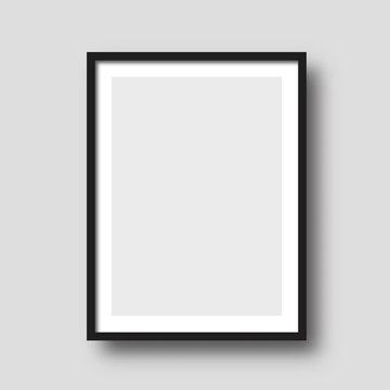 Wall picture frame vector.