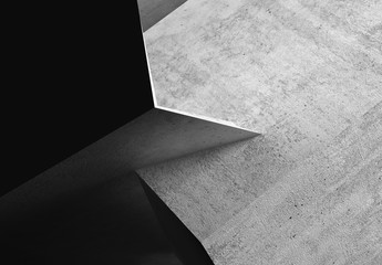 Wall Mural - Abstract rough dark concrete 3d art