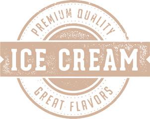Vintage Ice Cream Dairy Dessert Stamp