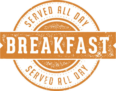 Breakfast Served All Day Diner Sign