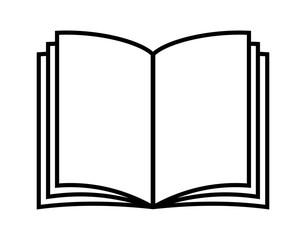 Fototapeta Vector illustration of open book in flat style. Icon obraz