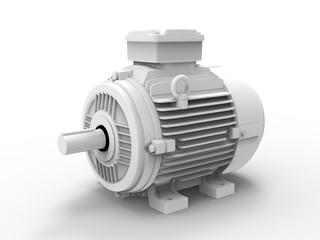 3D rendering - grey electric motor