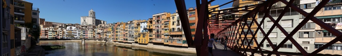 Girona, city of Catalonia with colorful houses.Spain
