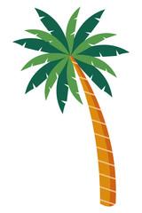 palm tree icon cartoon isolated