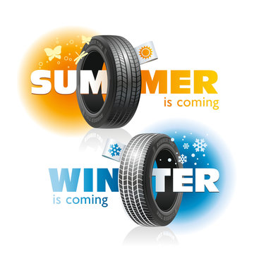 Winter and Summer are Coming for Car Tires