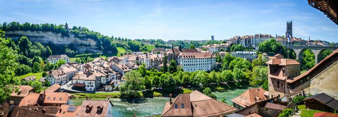 Fribourg en Suisse Fototapete