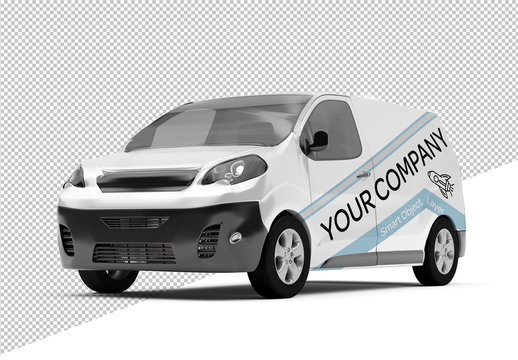 Mock up of Van with Branding