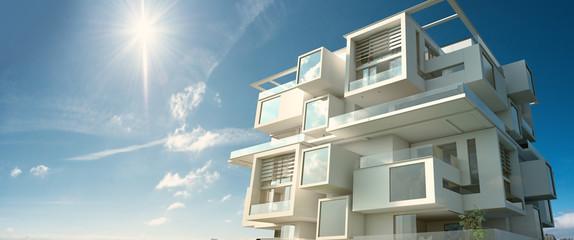 Modern module apartment  block