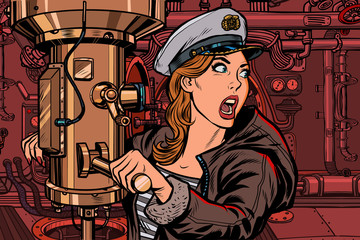 submarine a woman captain, battle alert
