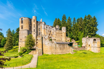 The Old Castle of Beaufort in Beaufort, Luxembourg. It consists of the ruins of a medieval fortress and dates back to the 11th century Wall mural