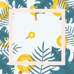 summer time holiday vector illustratio
