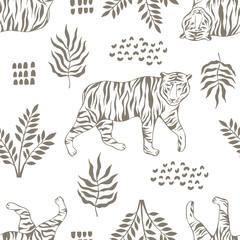 Tropical seamless pattern. Safari wallpaper.