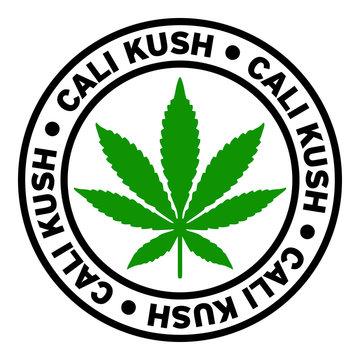 Round Cali Kush Marijuana Strain Clipart