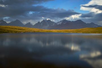 Idylic view of mountain lake
