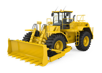 Wheel Dozer Isolated