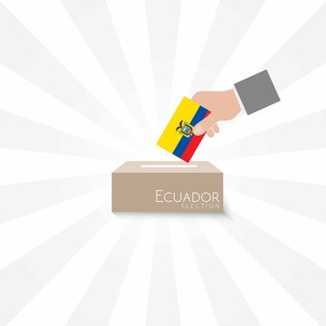Ecuador Elections Vote Box Vector Work