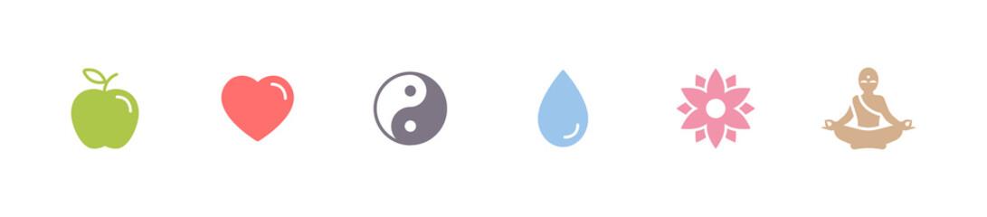 Gesundheit & Yoga - Symbole