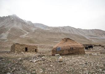 Wakhi yurt with a solar panel, Big pamir, Wakhan, Afghanistan