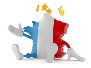 France character with stars around head