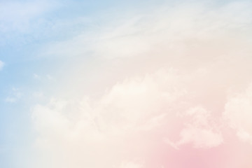 cloud background with a pastel colour Wall mural