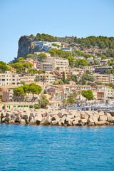 Wall Mural - Port de Soller, picturesque little village located at the foot of the Serra de Tramuntana, Majorca, Spain.