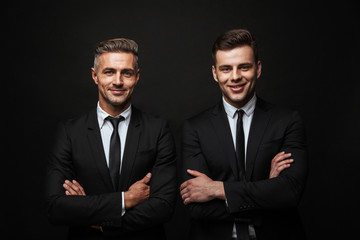 Two confident handsome businessmen wearing suit Fotobehang