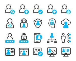 digital account icon set,vector and illustration