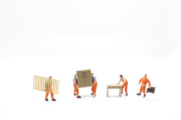 mini of figure Delivery Men Carrying furniture