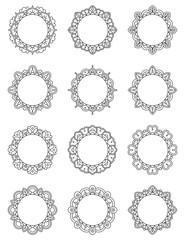 Mandala Circle Frame set